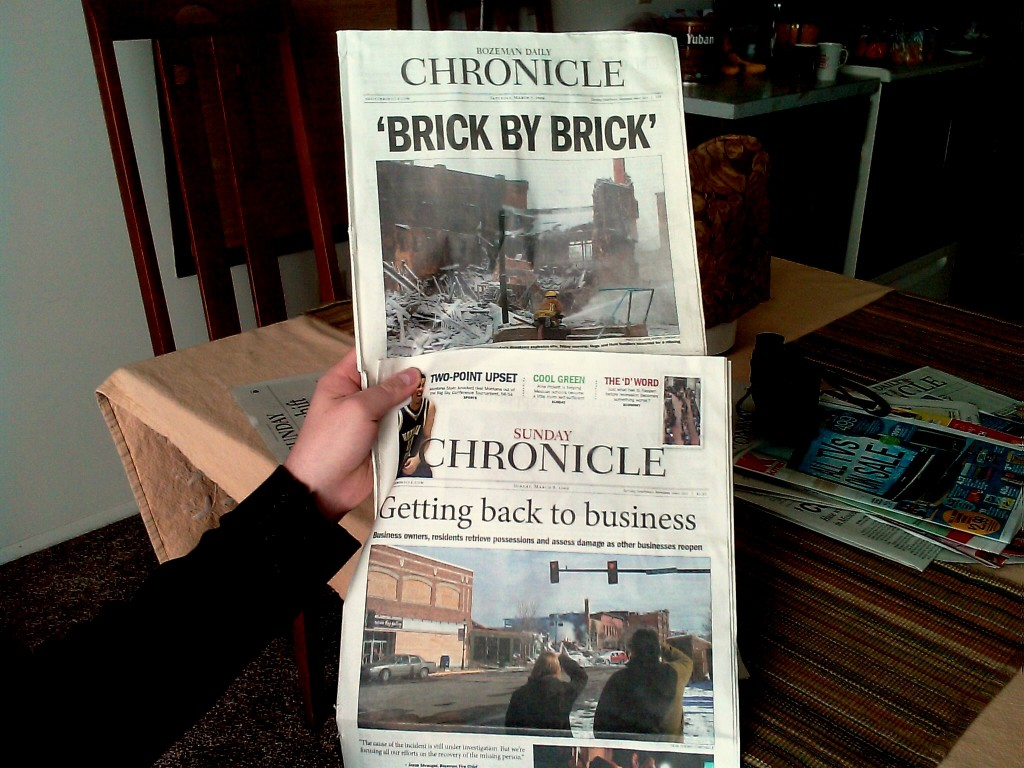 The news as seen through the keyhole of the Bozeman Daily Chronicle