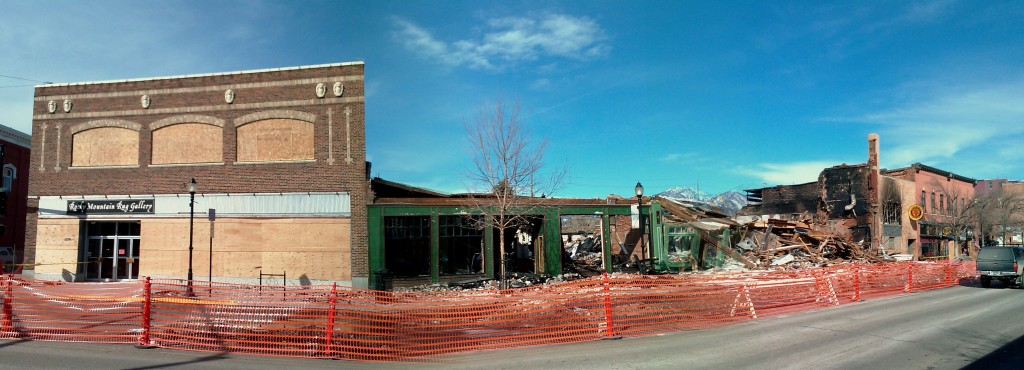 NEARLY ALL of the north side of this block of downtown Bozeman is effected.
